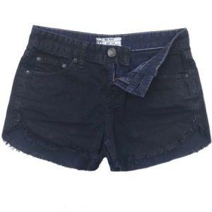 Free People Dark Wash Denim Shorts